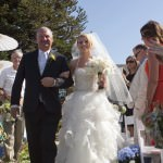 Walking down the aisle at The Purple Orchid Livermore, CA