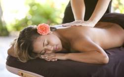 Getting a massage at The Purple Orchid Resort & Spa