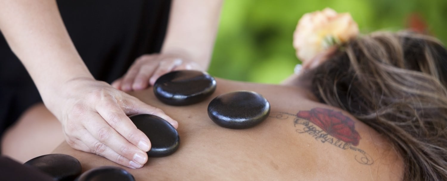 Hot stone massage at The Purple Orchid Spa
