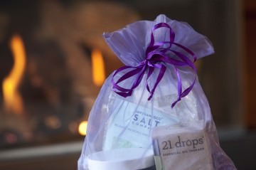 Purple Orchid Large Spa Gift Bag