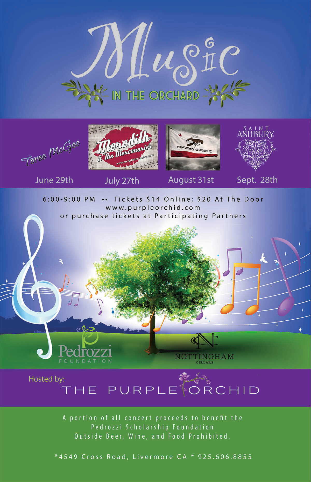 2017 Music in the Orchard Concert Livermore
