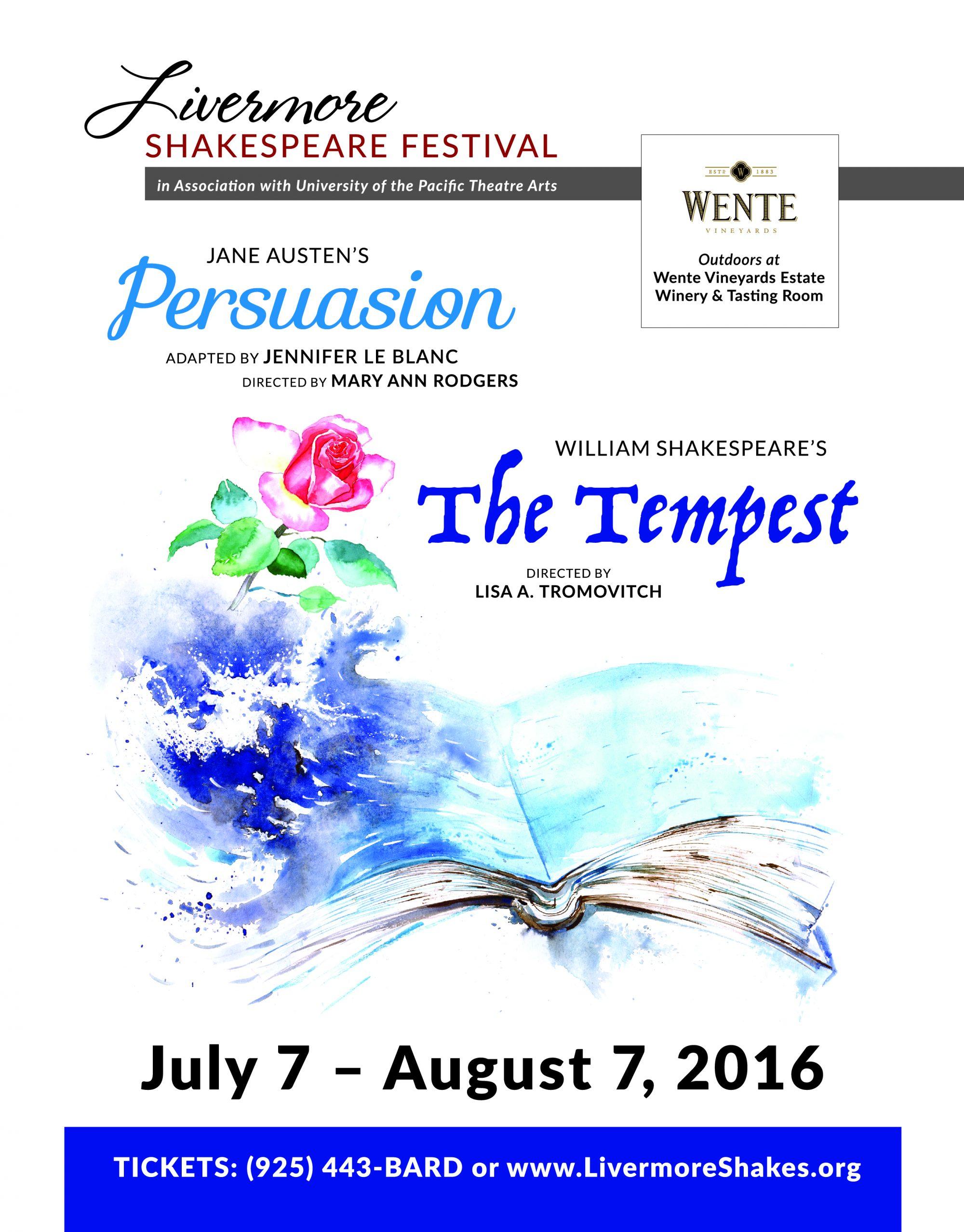 Livermore Shakespeare Festival 2016 Flyer