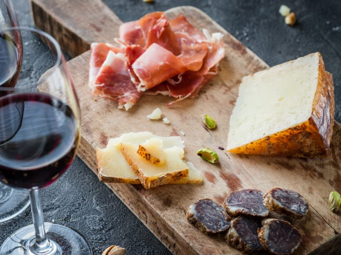 Wine pairing at Concannon Vineyard.