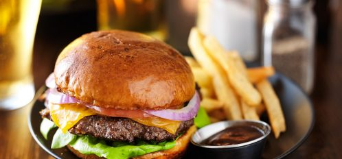 Enjoy a delicious cheeseburger at one of the Best Restaurants in Pleasanton, CA