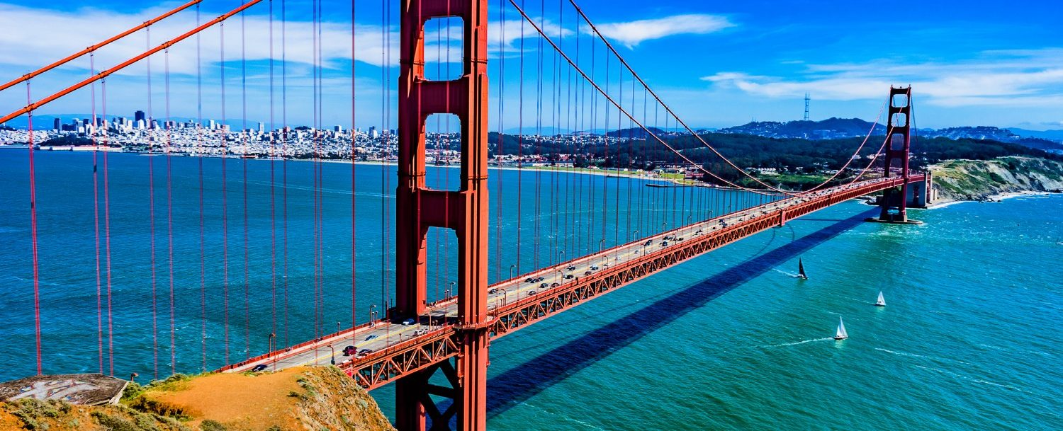 The Golden Gate Bridge: San Francisco weekend trip.