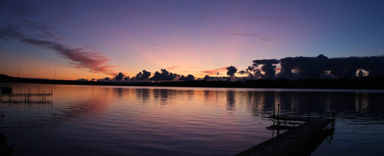 Enjoy fishing at Livermore fishing lakes during sunrise.